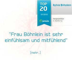 Jameda Bewertung für Heilpraktikerin Sylvia Böhnlein aus Bamberg - Schlaflosigkeit therapiert