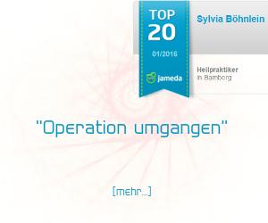 Jameda Bewertung für Heilpraktikerin Sylvia Böhnlein aus Bamberg - Krebstherapie