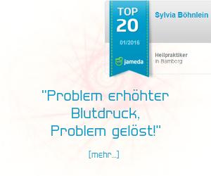 Jameda Bewertung für Heilpraktikerin Sylvia Böhnlein aus Bamberg - Blutdruck
