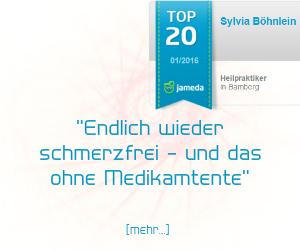 Jameda Bewertung für Heilpraktikerin Sylvia Böhnlein aus Bamberg - Tennisarm therapiert